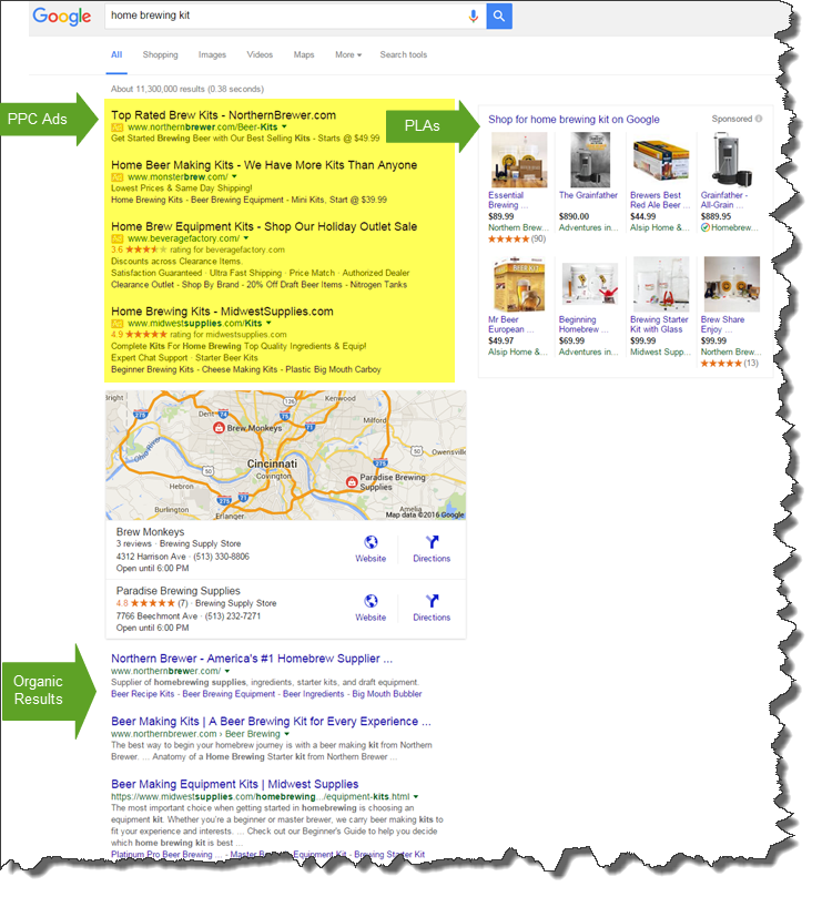 Expanded Search Engine Marketing Results